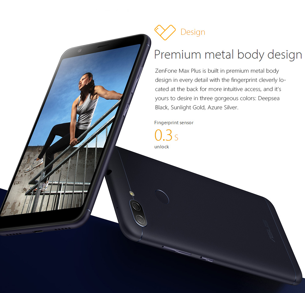 Asus Zenfone Max Plusm1 Global Version 4gb 64gb 57189 Fhd Log On Otg Micro Usb Lo 28 Gold Cable