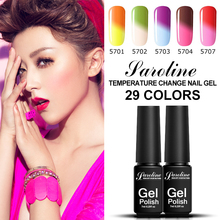 Saroline Changing Color Nail Gel Varnish Soak Off 1pcs Hybrid Temperature Gel Lacquer Color Changing Gel Polish Chamelon