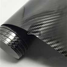 Buy High Glossy Black 5D Carbon Fiber Vinyl Wrap Film 1.52*20m Glossy Textured Carbon Fiber Shiny Foil Air Free Bubble for $190.00 in AliExpress store
