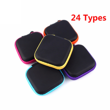 24 Types EVA Earphone Wire Storage Box Organizer Cable Makeup Storage Jewelry Container Coin Purse Case Pouch Bag(China)