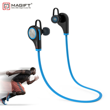 Magift6 Sports Bluetooth Headsets CSR4.1 Q9 Wireless In-ear Stereo Earphone with Microphone for iPhone7 plus Android(China)
