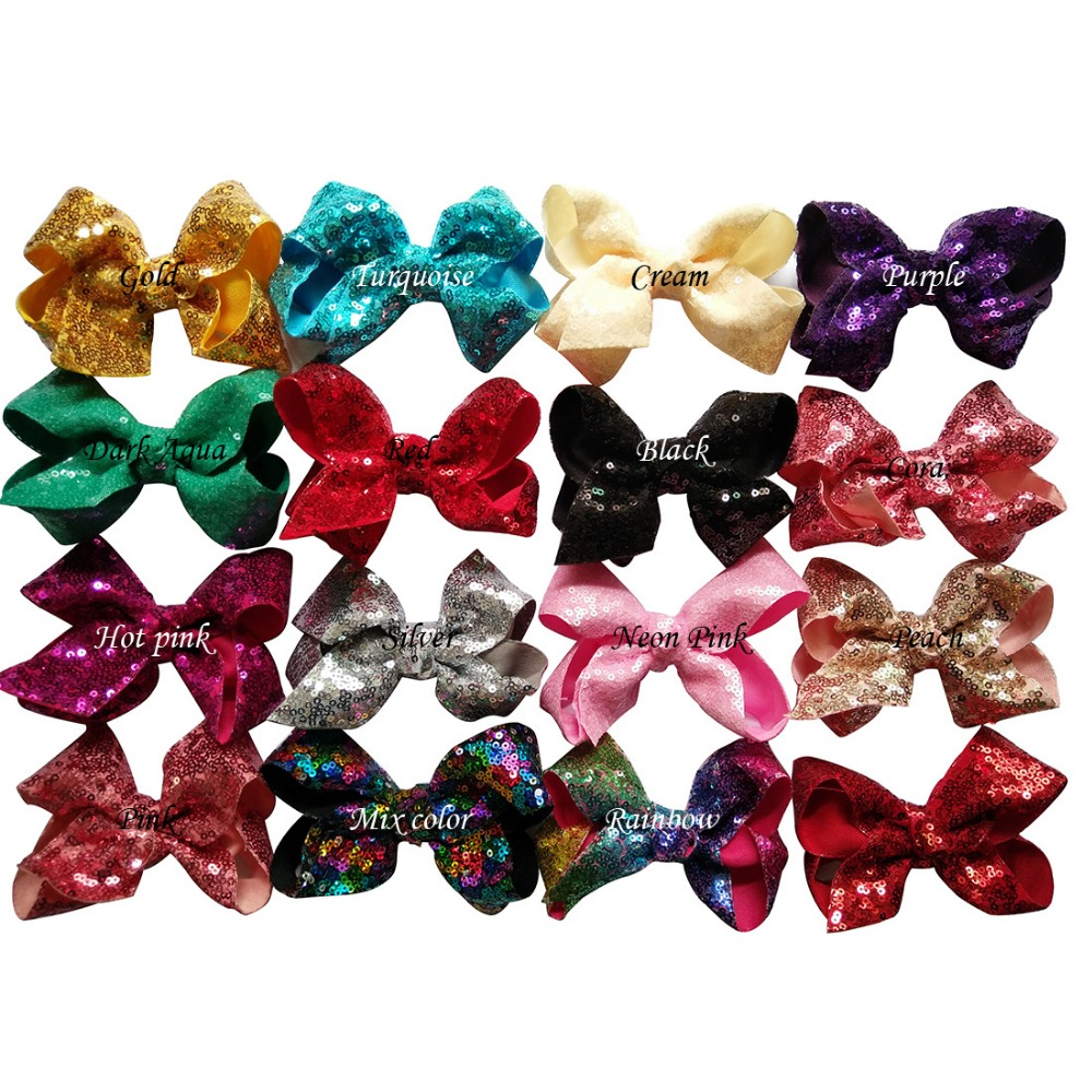 5\`\` saprkle sequin bows