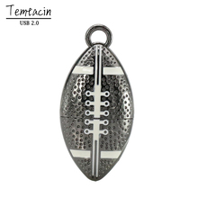 Metal Rugby Football PenDrive USB Flash Drive 4G 8G 16G 32G 64G U Disk Memory Stick USB 2.0 Stick USB Drive Flash Disk