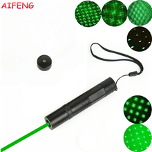 AIFENG 532 nm Green Laser Pointer with Star Head Laser Pen Beam 3000M 16340 Battery Operated Laser Pointer for Teaching Training(China)