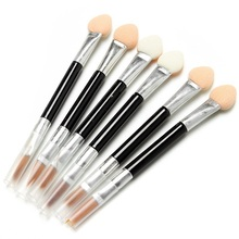 Wholesale 50,000pcs Excellent Makeup Eyeshadow Eyeliner Sponge Lip Brush Disposable Applicator 2 way Single Cosmetic Power Brush(China)