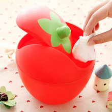 HIPSTEEN Creative Candy Color Small Trash Can Waste Bins Plastic Desktop Garbage Cleaning Barrel Desk Organizer(China)