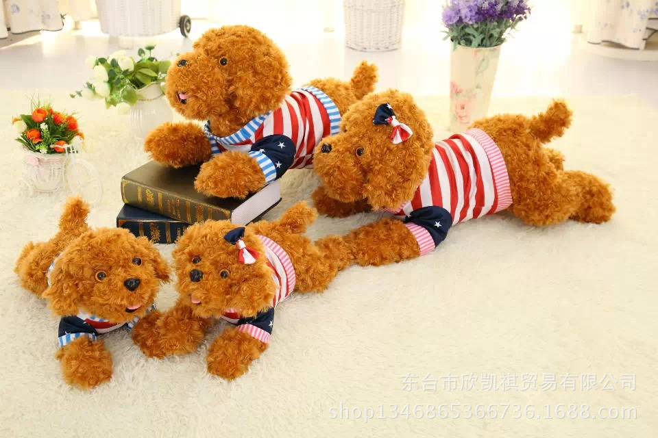 new arrival lovely prone teddy dog plush toy,dressed flag cloth dog toy,Valentines Day present, birthday gift w5432<br><br>Aliexpress