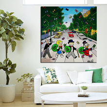in the road Alec monopoly Graffiti art print canvas for wall art decoration oil painting wall painting picture No framed