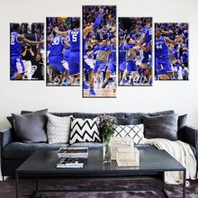 Newly Designed Modern Home Artwork Poster Picture basketball Canvas Unframed Popular Team 5pieces Painting Bedroom Ball the US