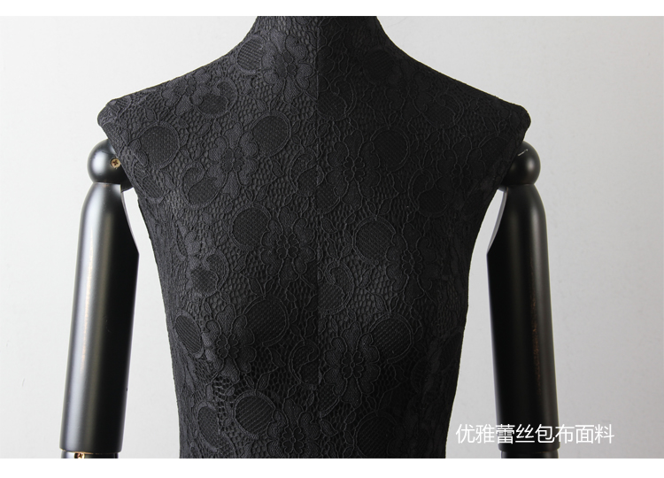 Female Half Body Cloth Mannequin With Wooden Arms Props Clothes Display Rack Wedding Dress Women Fabric Mannequin (7)