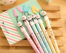 1 PCS Kawaii Colorful Sunny Doll Gel Pen Gift Stationery Small Fresh I Love You Gift Pen Estuches Escolar School