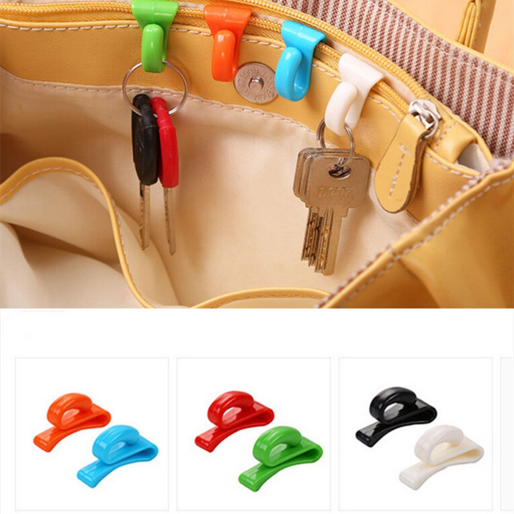 2 Pcs Design Easily Find Keys in Bag Key Hooks Bag Hooks Creative Bag Hanger Key Holder Portable Key Clip for Bag