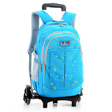 Brand Kids Travel Trolley Backpack On wheels Girl's Trolley School bags Children's Travel luggage Rolling Bag School Backpacks