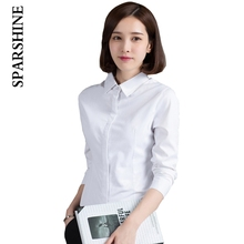 2017 new arrival fashion women blouse female classic white turn-down blusa hot sales simple causual lady office wear clothes