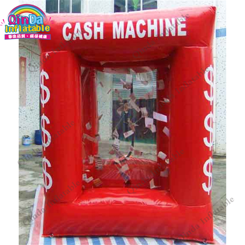 inflatable money catch grab machine booth10