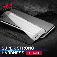 H&A 0.3mm 3D Full Cover 9H Screen Protection For iphone 7 7Plus tempered glass For iPhone 7 screen protector Film