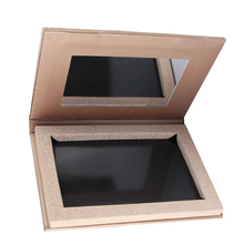 Empty Rose Gold Magnetic Eyeshadow Palette, Fill 6*36mm pans Naked Makeup Storage With Mirror.(China)