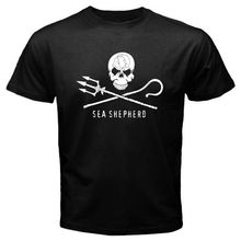 New Arrivals Men'S Sea Shepherd Marines Conservation Logo Design T Shirt Novelty Tops Male Custom Printed Short Sleeve Tees(China)