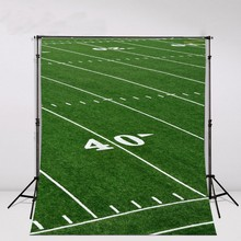 Football Field artificial Grass soccer Themed Backgrounds Vinyl cloth Computer print wall nfl backdrops(China)