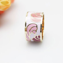 Star Product Feather Series Enamel Jewelry Ring 4 Colors Available, 1 pc/pack