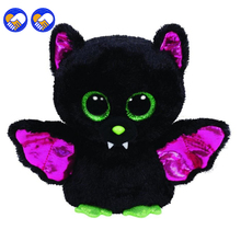 A toy A dream Original Ty Beanie Boos Big Eyes Plush Toy Doll Colorful Rabbit Baby Kids Gift Bat Husky Dog 15 cm Christmas gift
