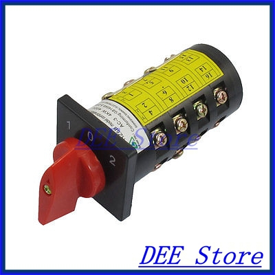 380V 10A Latching 3 Position 4KW 16 Terminal Cam Combination Changeover Switch<br><br>Aliexpress