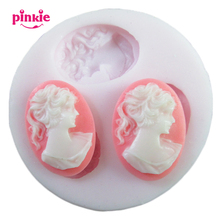 Women figure resin soap fondant candle molds sugarcraft chocolate mould silicone molds for cakes accessoire cuisine pastry tools