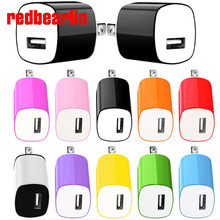 redbearlin 11 Colors 1A 1000MA US AC home wall charger for apple iphone 4 4s 5 5s 6 6plus for samsung mp3 for ipod itouch