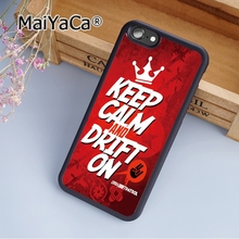 MaiYaCa Custom KEEP CALM AND DRIFT ON Soft Rubber cell phone Case Cover For iPhone 6 6S phone cover shell(China)