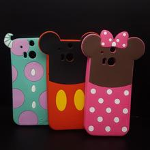 Cute 3D Cartoon Mickey Minnie Mouse Sulley Monsters Soft Silicone Case For HTC One M8 Fundas Rubber cover Phone cases