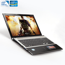 ZEUSLAP 15.6inch Intel Core i7 or Intel Celeron CPU 8GB RAM+1TB HDD Built-in WIFI Bluetooth DVD-ROM Laptop Notebook Computer