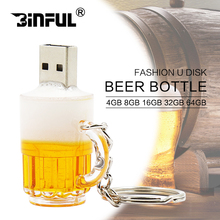 Promotion New arrival U disk mini pen drive beer cup usb flash drive pendrive 4gb 8gb 16gb 32gb beer cartoon 100% real capacity(China)