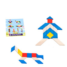 2018 Brand New Creative Wooden DIY Assembling IQ Training Educational Toys Christmas Gifts Children Kids 3D Puzzles Jigsaws(China)