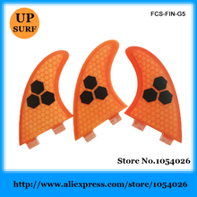 Free Shipping FCS Honeycomb Fins Good Quality FCS Fins G5 Size Surf Fins FCS Quilhas(China)