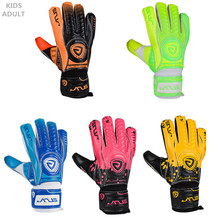 Children adults Men professional football goalkeeper gloves kids goal keeper gloves 4mm Superior quality Thickened Latex safety