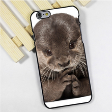 Fit for iPhone 4 4s 5 5s 5c se 6 6s 7 plus ipod touch 4 5 6 back skins phone case cover Baby Otter Cute Wild Nature