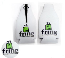 Neoprene SBR White And Green Colour Beer bottle Holders with Customized LOGO/Pattern Print(China)