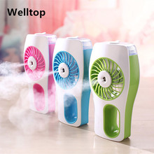 Portable Mini Misting Fan Built-in Rechargeable USB Fan Handheld Personal Cooling Mist Humidifier for Home Office and Travel
