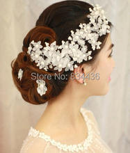 Free Shipping Wholesale White Wedding Bridal Flower Plastic Pearl beads Hair Pins Clips Bridesmaid Dress Accessory Bride Jewelry
