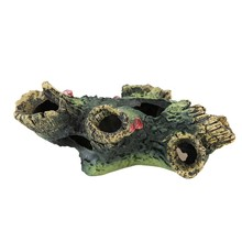 New Aquarium Artificial Wood Decoration Fish Tank Decorative Trunk Driftwood Cave Shelter Ornament For Fish Shrimp 12x7x11cm(China)