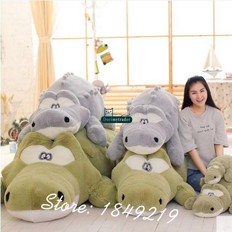 Dorimytrader Big 118\`\` 300cm Jumbo Crocodile Toy Plush Soft Stuffed alligator Sofa Tatami Free Shipping DY61038 (7)