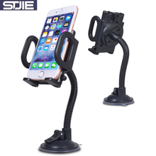 STJIE universal car holder plastic stand car windshield telephone mobile phone cradle strong hose phone mount for iphone Samsung