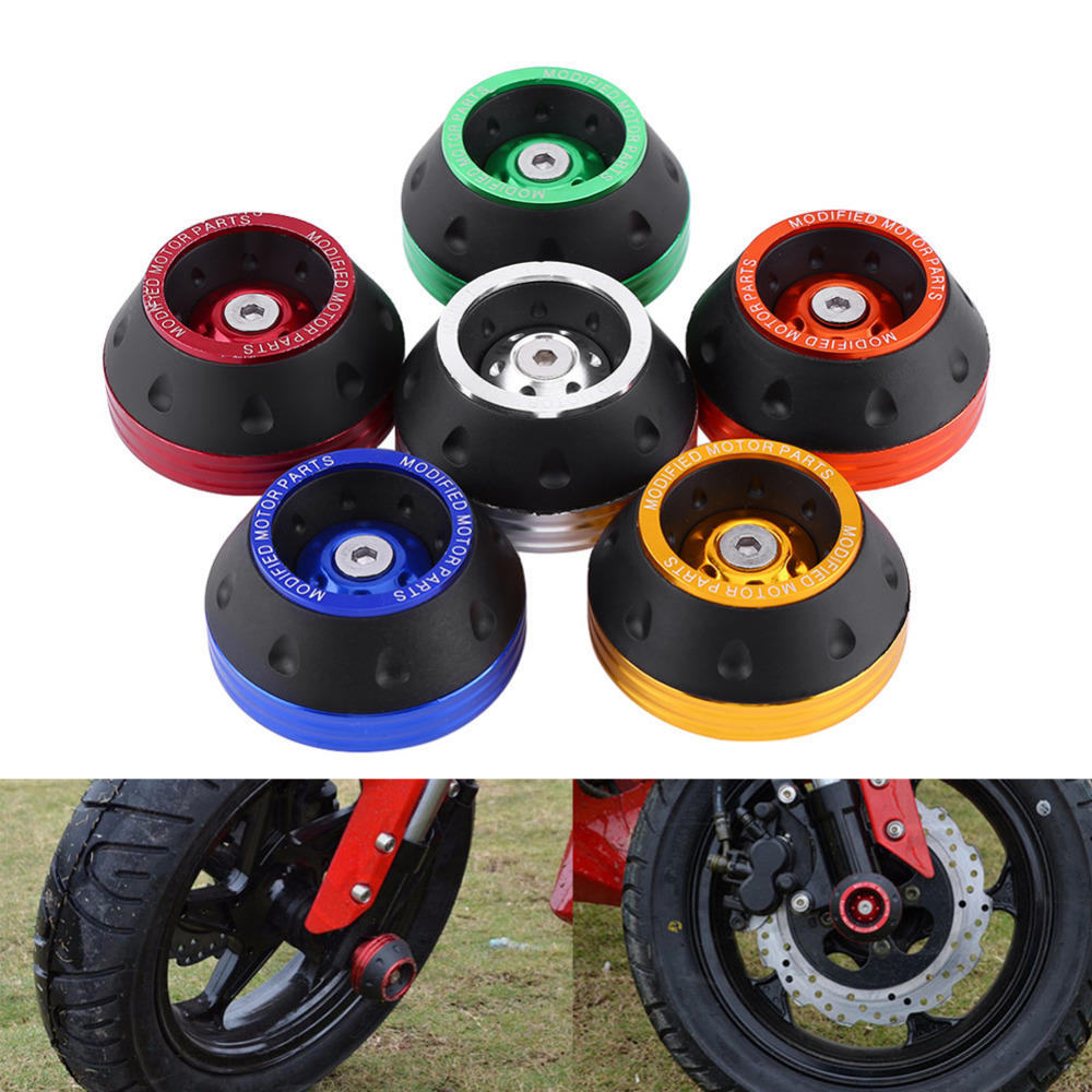 CNC Aluminum Frame Sliders Front Fork Wheel Motorbike Falling Protection Scooter Moped Motocicleta Accessories Car-Styling