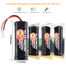 FLOUREON 7.2V 3500mAh Rechargeable Ni-MH Battery Pack Tamiya Plug High Capacity SC*6 Cells for RC Control Car Toys Battery