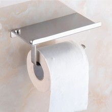 Stainless 304/201 Steel Bathroom Roll Toilet Paper Holder Mobile Phone Holder Bathroom Shelf Holder Rack Toilet Tissue Boxes