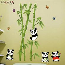Old Passenger _ wall stickers home decor panda bamboo background fashion Decoration living room sitting room wall stickers