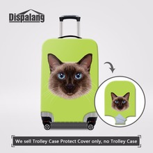 Dispalang Cute Cat Head Pattern Elastic Suitcase Cover Waterproof Luggage Protective Dust Covers For 18-30 inch Trolley Case
