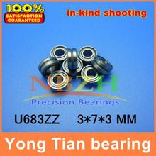 Molybdenum steel wire cutting through the wire guide wheels corrective straight WITH U groove bearings U683ZZ ABEC-5 3*7*3 mm