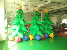 Factory sale 3m height outdoor  inflatable Christmas tree with led light  for  santa party decoration