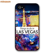 minason Las Vegas Strip North Side Cover case for iphone 4 4s 5 5s 5c 6 6s 7 8 plus samsung galaxy S5 S6 Note 2 3 4  H3225